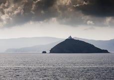 Latarni morskiej wyspa Obraz Royalty Free