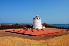 Latarnia morska Aguada fort w Candolim Fotografia Royalty Free