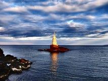 Latarnia morska Ahtopol Zdjęcia Royalty Free