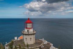Latarnia morska Arnel, Nordeste, Azores wyspy Zdjęcie Royalty Free