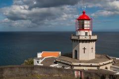 Latarnia morska Arnel, Nordeste, Azores wyspy Fotografia Royalty Free