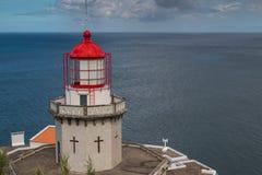 Latarnia morska Arnel, Nordeste, Azores wyspy Obrazy Stock