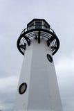 latarnia morska białe czarne Fotografia Stock