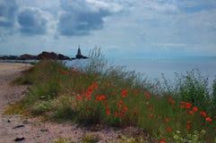 Latarnia morska blisko Ahtopol z popies, Bułgaria Obrazy Royalty Free