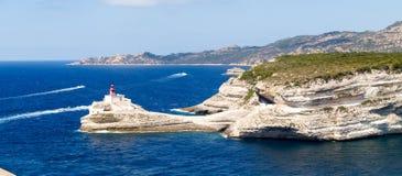 Latarnia morska Bonifacio Obraz Royalty Free