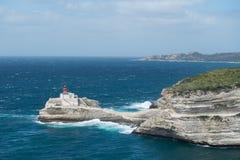 Latarnia morska Bonifacio - closup widok Fotografia Royalty Free