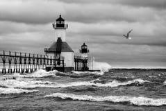 latarnia morska burzowa Fotografia Stock