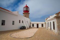 Latarnia morska Cabo De Sao Vincente, Sagres, Algarve, Portugalia Fotografia Stock