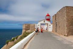 Latarnia morska Cabo De Sao Vincente, Sagres, Algarve, Portugalia Obraz Stock