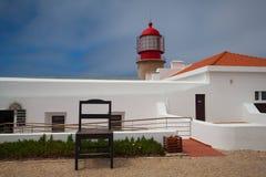 Latarnia morska Cabo De Sao Vincente, Sagres, Algarve, Portugalia Zdjęcie Royalty Free
