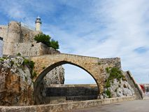 Latarnia morska Castro Urdiales, Cantabria, Hiszpania Zdjęcie Royalty Free