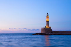 Latarnia morska Chania, Crete, Grecja Obrazy Stock