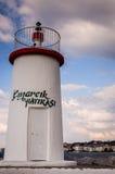 Latarnia morska Cinarcik miasteczko Obrazy Royalty Free