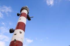 latarnia morska czerwony white Zdjęcia Royalty Free