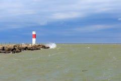 latarnia morska czerwony white Zdjęcie Stock