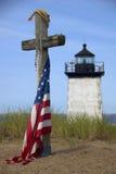 latarnia morska długi pamiątkowy punkt Zdjęcia Royalty Free
