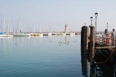 Latarnia morska Desenzano Garda jezioro Włochy Obraz Stock