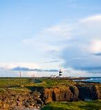 Latarnia morska Droga, Haczyk Głowa, Irlandia zdjęcia stock