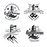 Latarnia morska emblemat dla koszulki Obraz Stock