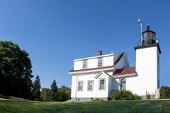 Latarnia morska fortu punktu światło, Stockton wiosny, Maine obrazy stock