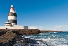 Latarnia morska, Haczyk Głowa, Irlandia obrazy stock