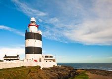 Latarnia morska, Haczyk Głowa, Irlandia zdjęcie royalty free