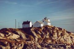 Latarnia morska, Henningsvar, Lofoten wyspy, Norwegia zdjęcia royalty free