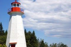 Latarnia morska i niebieskie niebo Zdjęcie Royalty Free