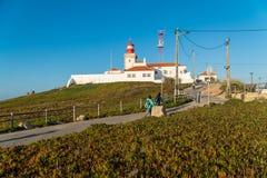 Latarnia morska i otoczenia na Cabo Da Roca Obraz Royalty Free