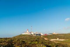 Latarnia morska i otoczenia na Cabo Da Roca Obrazy Royalty Free