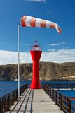 Latarnia morska i pogodowy vane Zdjęcia Royalty Free