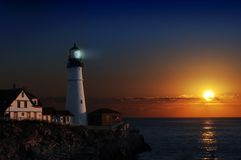 latarnia morska jutrzenkowa Zdjęcie Royalty Free