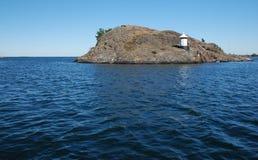 latarnia morska klifu Fotografia Royalty Free