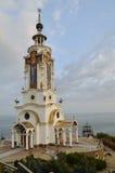 Latarnia morska kościół St Nicholas crimea Zdjęcia Royalty Free