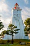 Latarnia morska, Kopiec, Hiiumaa, Estonia Zdjęcia Royalty Free