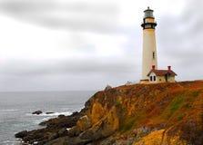 latarnia morska linię brzegową Fotografia Royalty Free