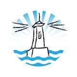 Latarnia morska logo, wektor ilustracji