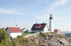 latarnia morska Maine Zdjęcie Stock