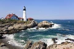 latarnia morska Maine Portland Obraz Royalty Free
