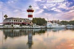 Latarnia morska na Hilton głowy wyspie Zdjęcie Royalty Free