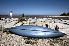 Latarnia morska na jeziornym Huron Zdjęcia Stock