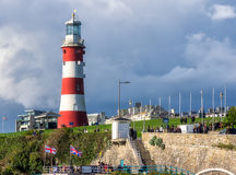Latarnia morska na motyce w Plymouth Fotografia Royalty Free