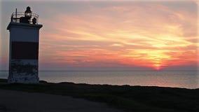 Latarnia morska na nadbrzeżu zbiory wideo