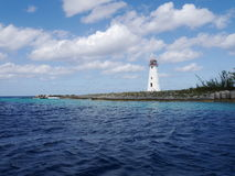 Latarnia morska na raj wyspie, Bahamas Fotografia Royalty Free