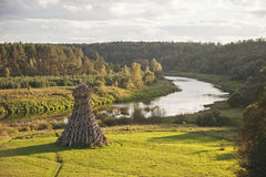 Latarnia morska Na Ugra rzece NICOLA-LENIVETS Artykuł wstępny 19 09 2016 Obrazy Stock