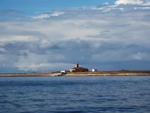 Latarnia morska na wyspie Obrazy Royalty Free