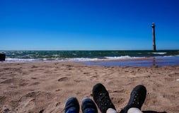 Latarnia morska na wyspie Saaremaa fotografia royalty free