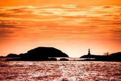 Latarnia morska na zmierzchu Obrazy Royalty Free