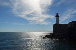 Latarnia morska na zmierzchu Fotografia Royalty Free