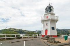 Latarnia morska nad seacoast Nowa Zelandia obrazy royalty free